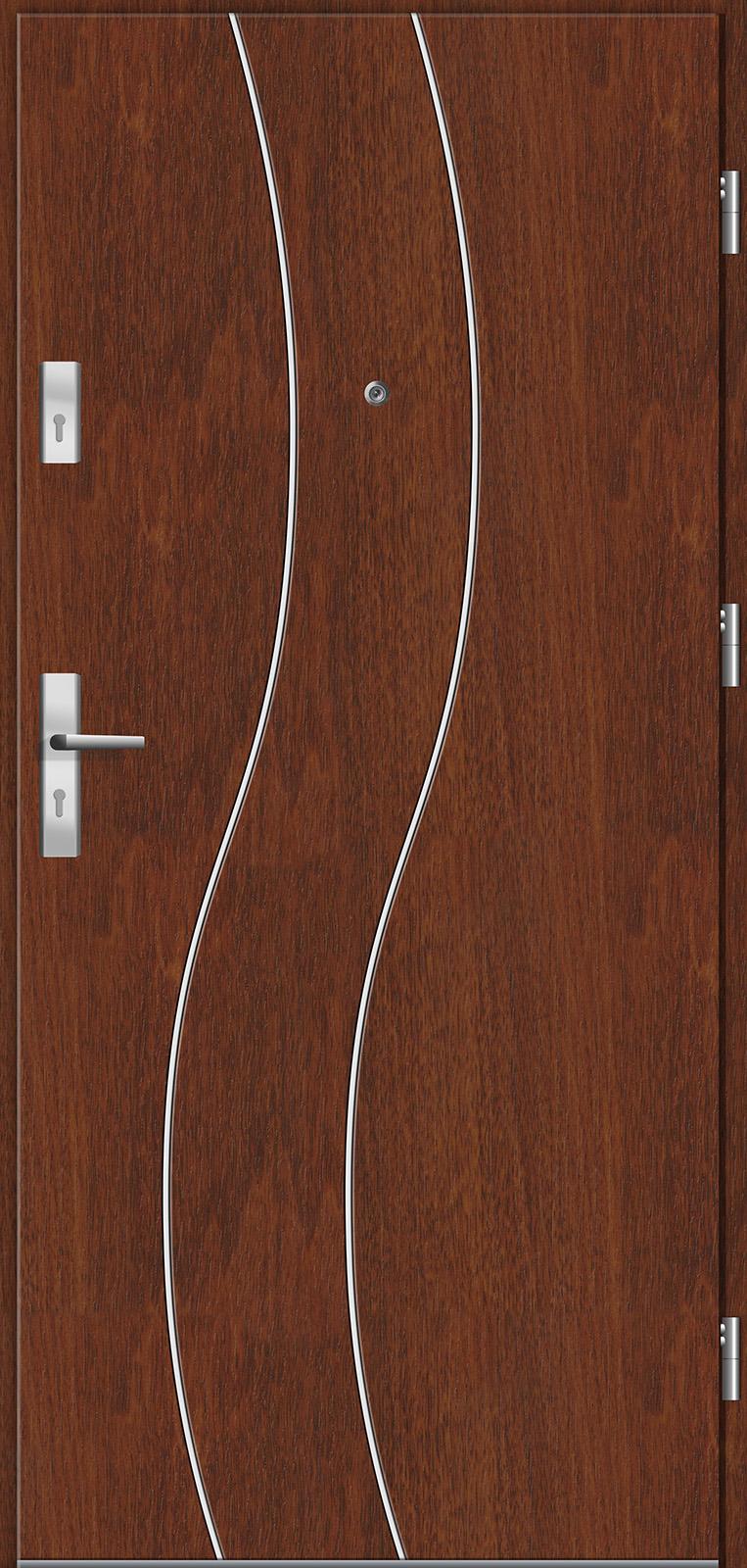 Drzwi wewnętrzne do mieszkań Otium 4 kasztan