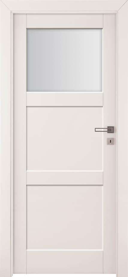 Drzwi z przeszkleniem Bianco Sati 2 | Wrocław