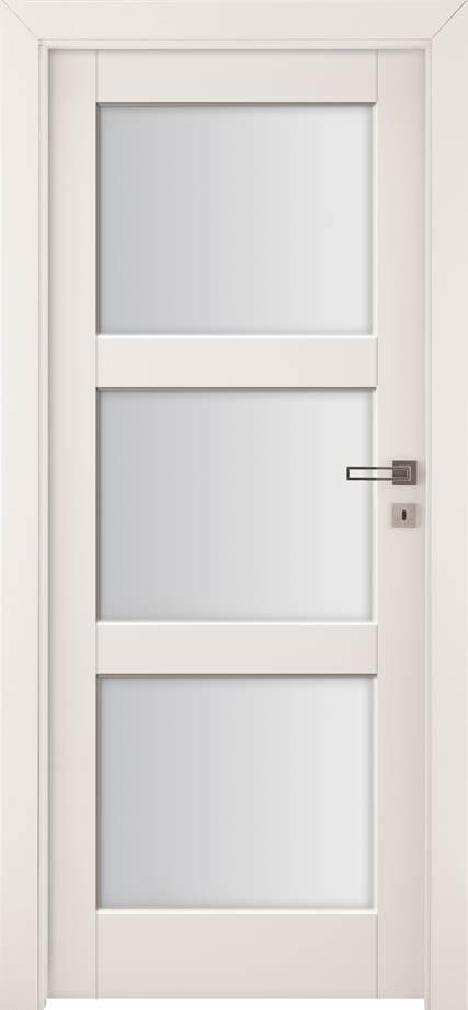 Drzwi z przeszkleniem Bianco Sati 3 | Wrocław