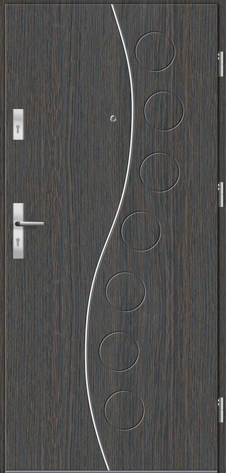 Drzwi wewnętrzne do mieszkań Otium 2 wenge