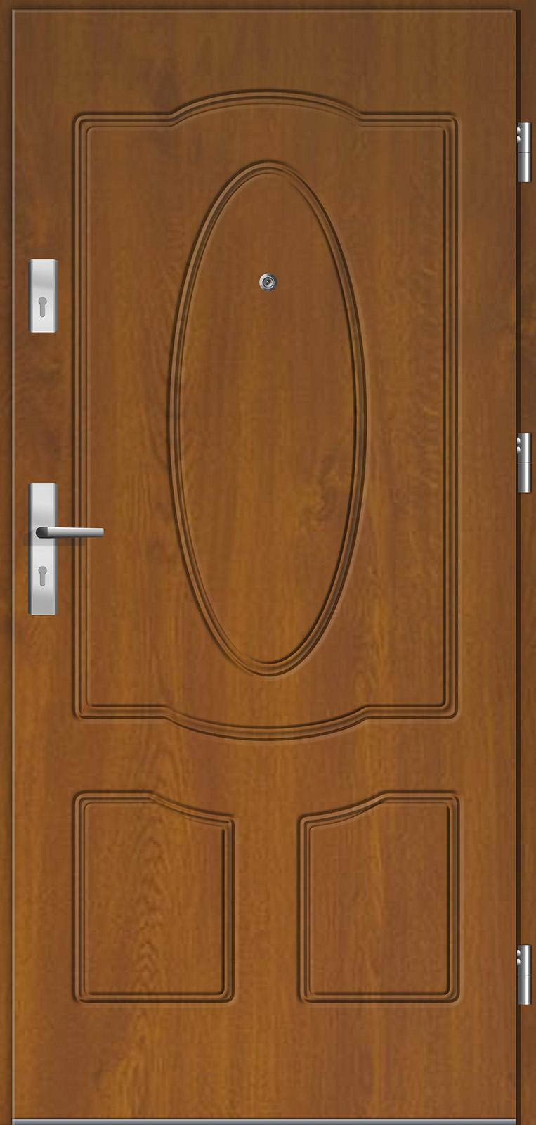 Drzwi wewnętrzne do mieszkań Otium 46 złoty dąb