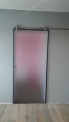 Drzwi szklane przesuwne Inox | Wrocław