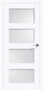 Drzwi białe Belvedere-4 Satinato