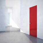 Drzwi ukryte w ścianie szkło lacobel