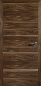 Drzwi fornirowane Linus-4D-orzech amerykański