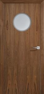 Drzwi fornirowane Euroba z przeszkleniem bulaj