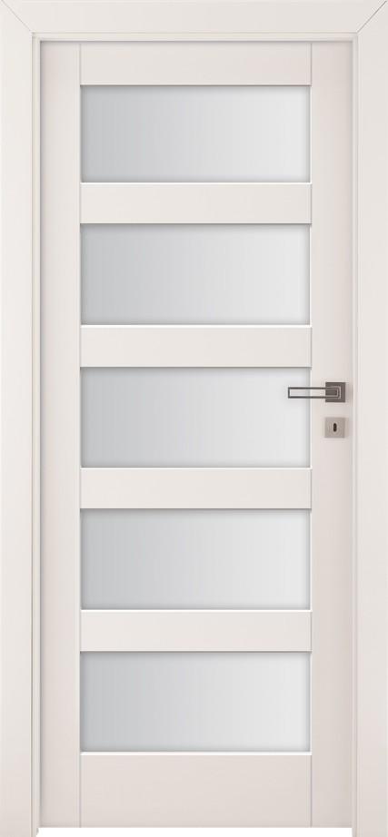 Drzwi z przeszkleniem Bianco Nube 3 | Wrocław