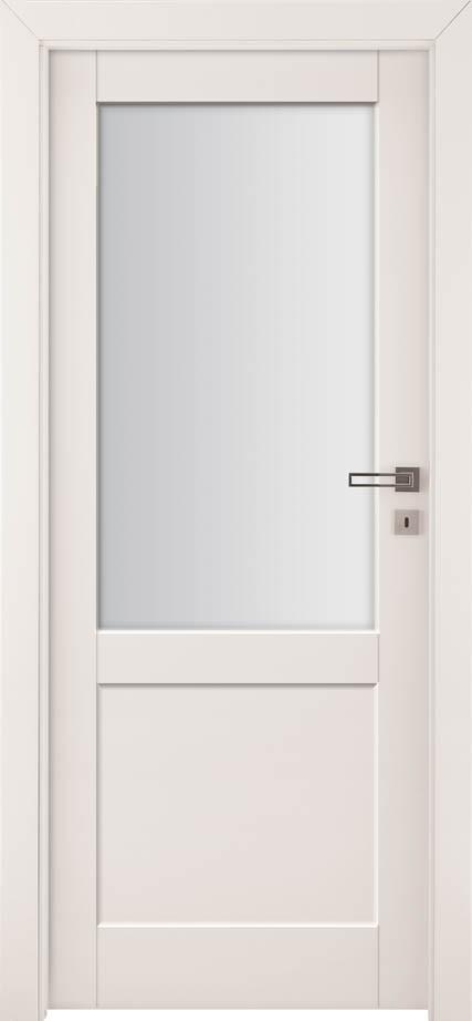 Drzwi z przeszkleniem Bianco Neve 2 | Wrocław