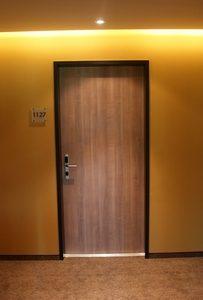 Drzwi HPL z ościeżnicą stalową